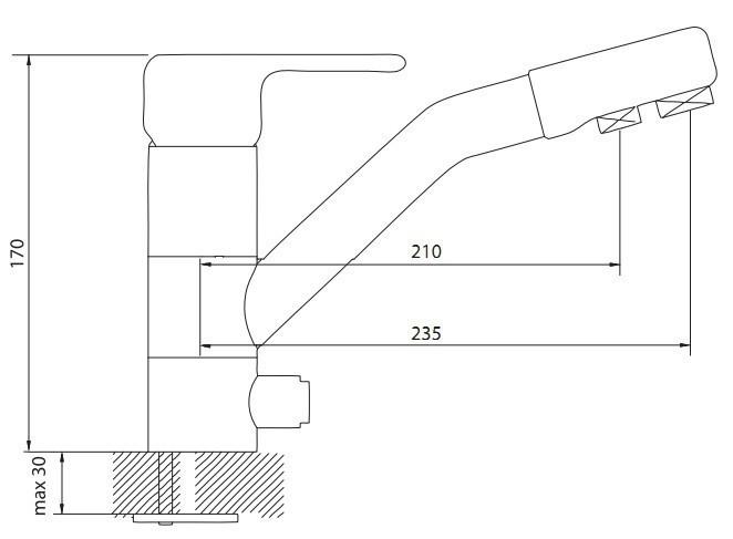 Кухонный смеситель Dr. Gans DG-02 схема