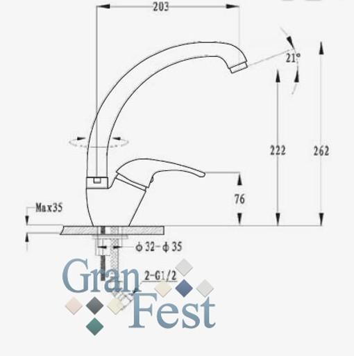 Кухонный смеситель GranFest 1024 Схема