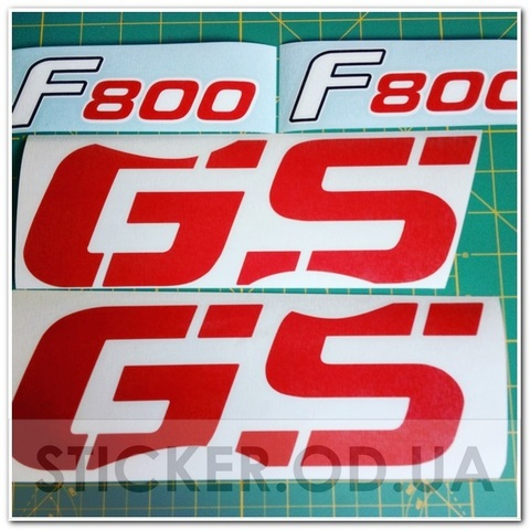 Набор виниловых наклеек на мотоцикл BMW F800GS 2008 г.