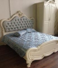 Кровать Милано (MK-1866-IV 200x180) Слоновая кость