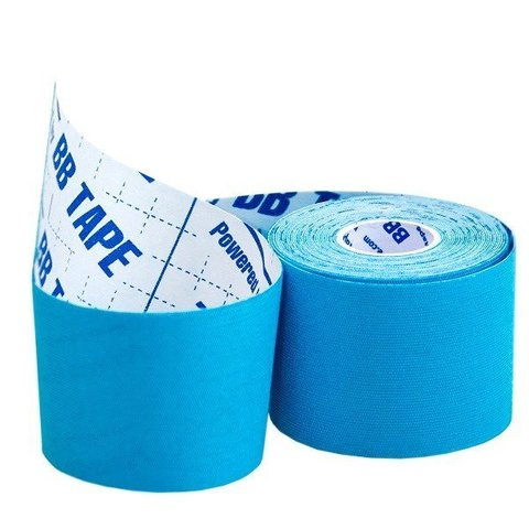 BBtape кинезио тейп 5см х 5м ICE (шелк) голубой