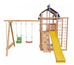 Детская деревянная игровая площадка Аляска