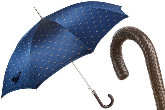 Зонт-трость Pasotti Classic Umbrella with Braided Leather Handle, Италия