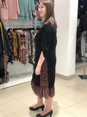 Платье Exxpose Line 0611 комб карман бисер однотон/цветочки (В20)