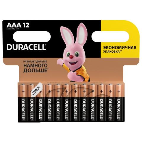 Батарейки DURACELL ААA/LR03-12BL BASIC бл/12