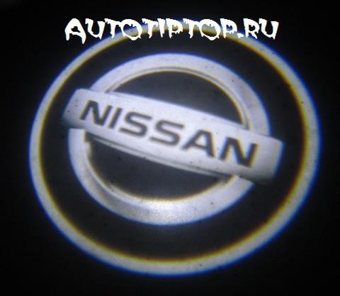 Лазерная проекция с логотипом Nissan - Ниссан