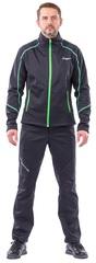 Куртка Explorer мужская, Softshell, зелёный/чёрный