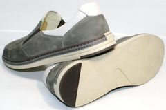 Модные мужские мокасины IKOC 3394-3 Gray.
