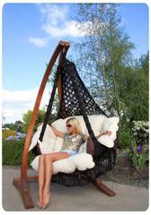Подвесное кресло качели Cartagena с подушками