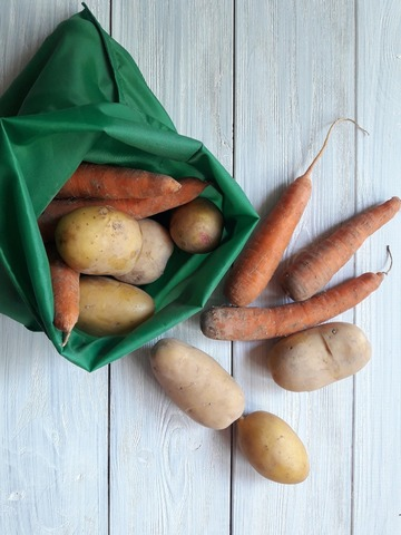 Paketamnet, Многоразовый мешочек из плащевки для грязных овощей