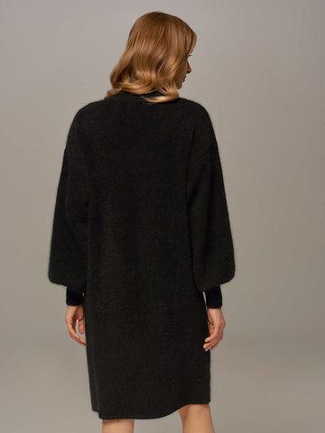 Женское платье черного цвета из ангоры - фото 3