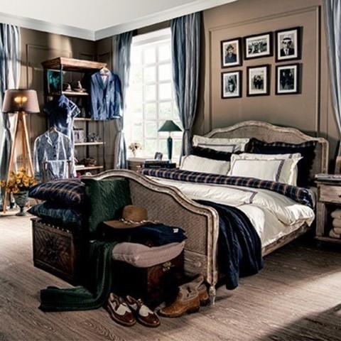 Постельное белье 2 спальное евро Casual Avenue Toscana слоновая кость с синей вышивкой