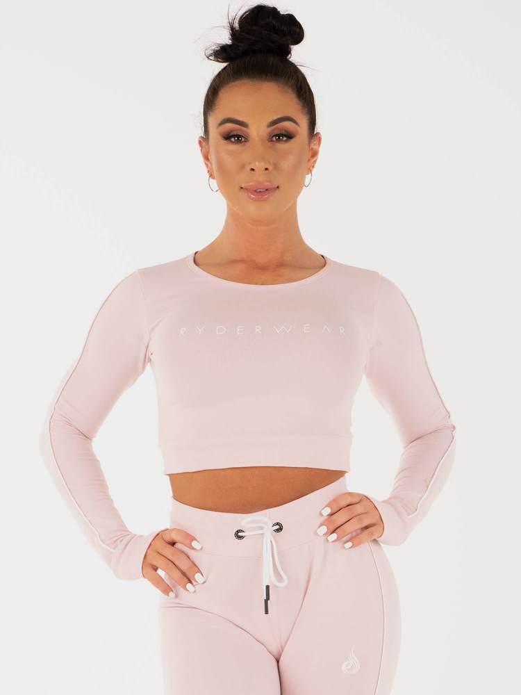 Женский укороченный свитер Ryderwear BSX Pink
