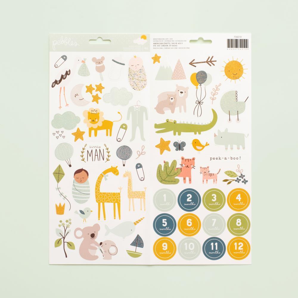 Набор стикеров Peek-A-Boo You Cardstock Stickers 15х30 см -Boy