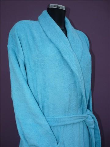 Элитный халат махровый Weekend голубой от Vossen