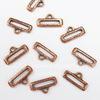 Концевик для плоского шнура TierraCast (цвет-античная медь) 19х10 мм