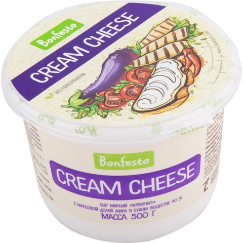 Кремчиз Cream Cheese Bonfesto, 500г.