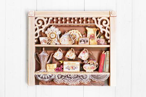 Английский шкафчик - готовая работа, фронтальный вид.