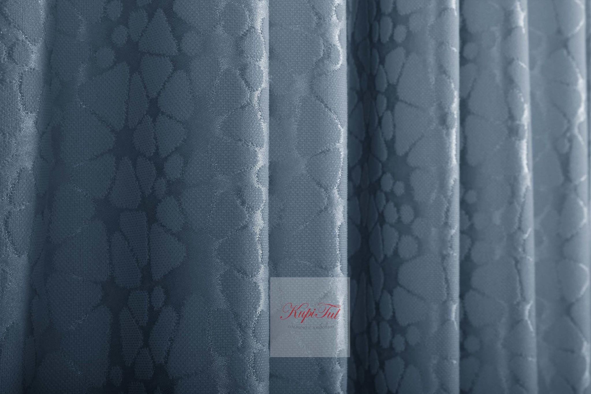 Комплект штор Лоран (Indigo). Шторы из стриженного бархата.