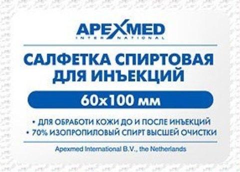 Салфетка спиртовая стерильная для инъекций Apexmed