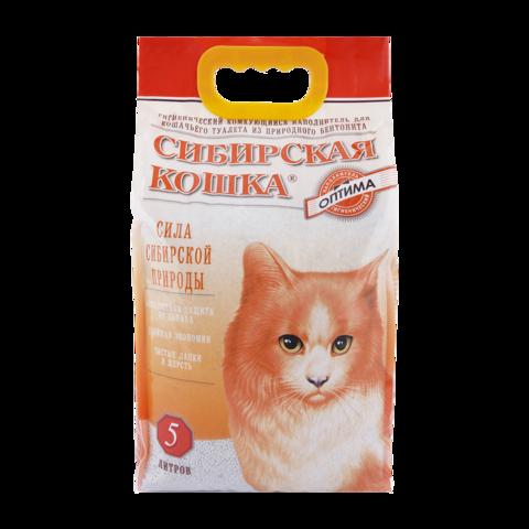 Сибирская кошка Оптима Наполнитель для туалета кошек комкующийся