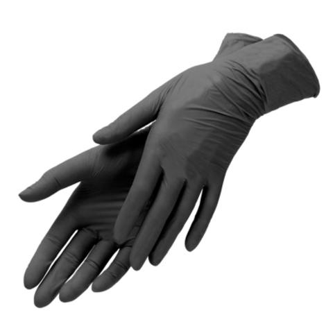 Перчатки нитриловые (черные, XS,100 шт./упк.).