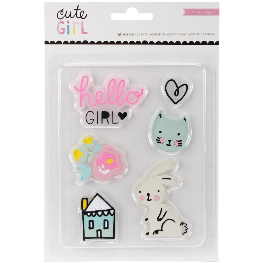 Пластиковые украшения  Cute Girl by Crate Paper