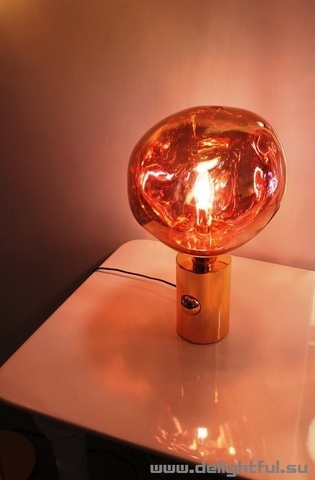 replica Tom Dixon Melt table lamp  ( gold )
