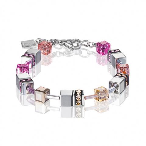 Браслет Coeur de Lion 4015/30-0227 цвет серый, розовый, бежевый
