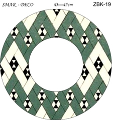Эскиз для росписи, Зеркало диаметр-45см, SMAR-ZBK-19