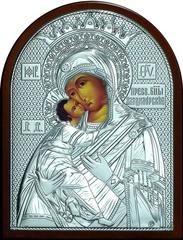 Серебряная икона Божией Матери Владимирская 16х12см