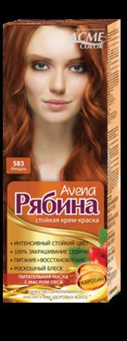 Рябина Avena Крем-краска для волос тон №583 миндаль