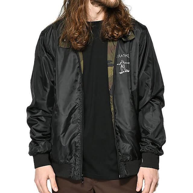 Куртка THRASHER Gonz Reversible Coach Jacket (Black/Camo)