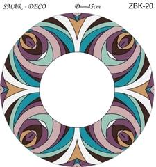 Эскиз для росписи, Зеркало диаметр-45см, SMAR-ZBK-20