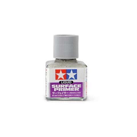 Tamiya Liquid Surface Primer Gray, Грунт жидкий Серый, 40 мл