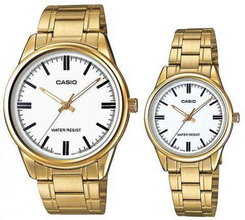 Купить Парные часы Casio Standard: MTP-V005G-7AUDF и LTP-V005G-7AUDF по доступной цене