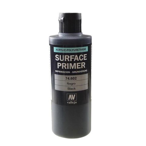 74602 Surface Primer акриловый полиуретановый грунт, черный (Black), 200 мл Acrylicos Vallejo