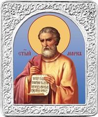Святой Марк. Маленькая икона в серебряной раме.