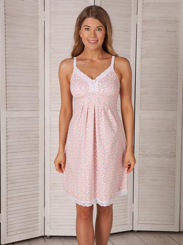 Vivamama. Сорочка для беременных и кормящих с поддержкой груди Nikol, розовый