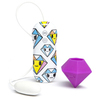 Вибратор для стимуляции клитора Tokidoki 10 function Purple Diamond 65435, фиолетовый