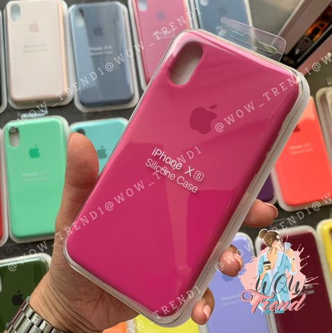 Чехол iPhone 6+/6S+ Silicone Case Full /dragon fruit/ тёмная фуксия