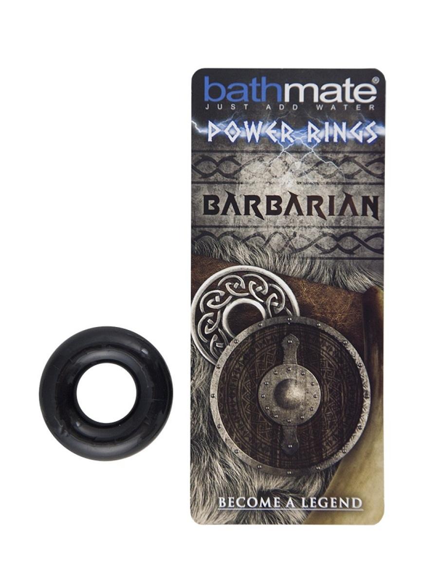 Эрекционные кольца: Чёрное эрекционное кольцо Barbarian