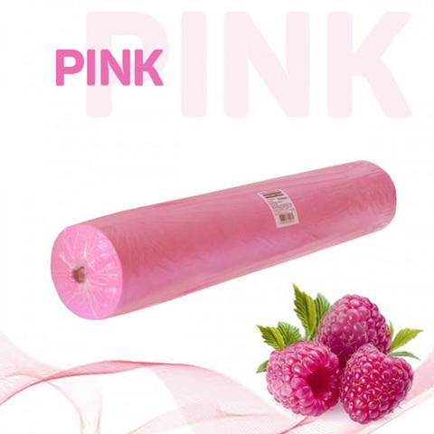Простыни Стандарт в рулоне розовые, СМС, 200х70см (100шт/уп)