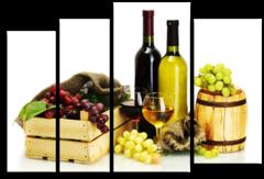 "Модульная картина ""Вино и виноград"""