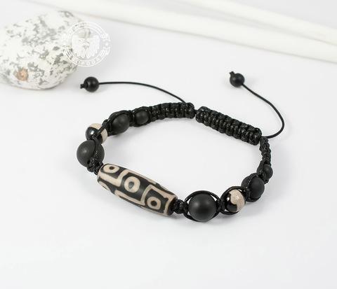 BS668 Мужской браслет с большим камнем &#34Дзи&#34, ручная работа. &#34Boroda Design&#34