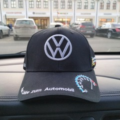 Кепка Фольксваген черная (Бейсболка Volkswagen)
