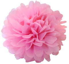 Помпон розовый, (16