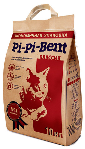"""Наполнитель для кошачьего туалета Pi-Pi-Bent """"Классик"""" 10 кг"""