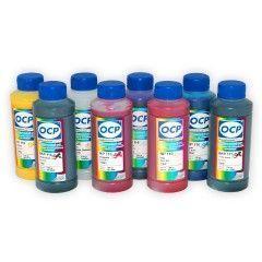 Комплект пигментных чернил OCP для принтеров Epson R1900/R2000  - OCP EGO, BKP 110, BK 111, CP 110, YP 116, RP 110, MP 110, OP 110. 8 x 100 мл