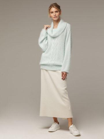 Женский джемпер бирюзового цвета с объемным воротником - фото 4